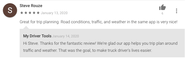 Truck driver weather app review from Steve Rouze.
