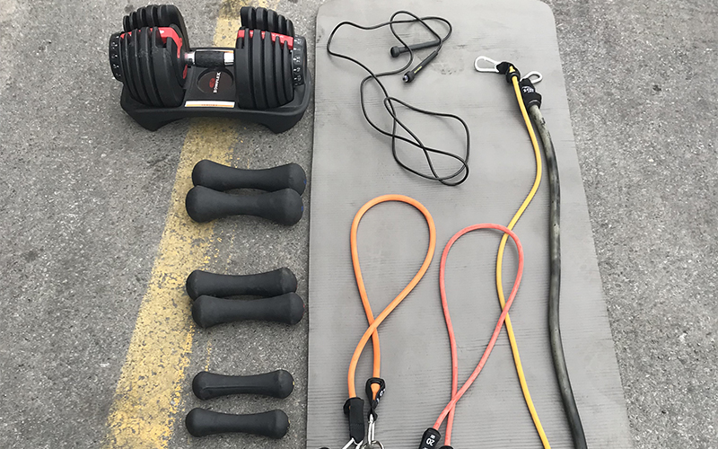 Truck driver exercise equipment