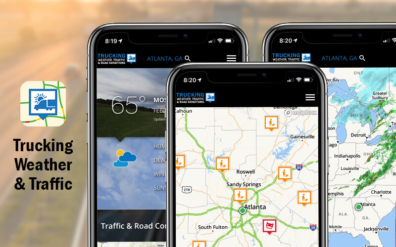 truck driver weather app info