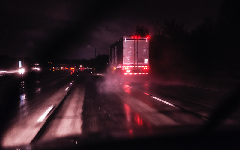 Saftey tips for truck driving in heavy rain