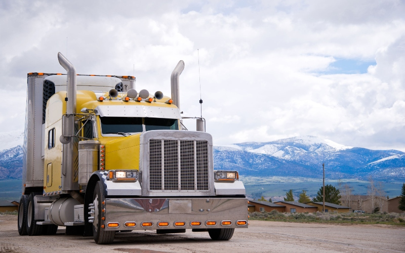 Semi truck from trucking company review
