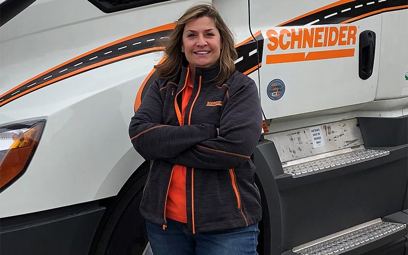 Women in Trucking leader Kris Maczollek