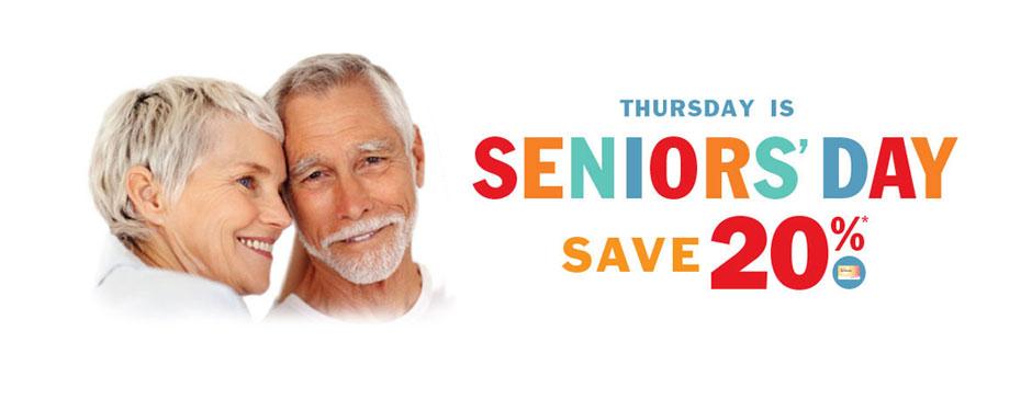 Seniors save more on Thursday!